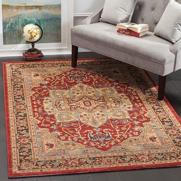 Natural, Navy (B) Traditional / Oriental Area-Rugs