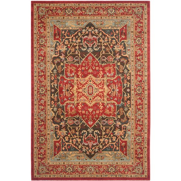 Red (D) Traditional / Oriental Area Rug