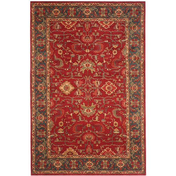 Red, Navy (F) Traditional / Oriental Area Rug