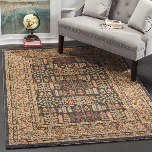 Navy, Natural (E) Traditional / Oriental Area-Rugs