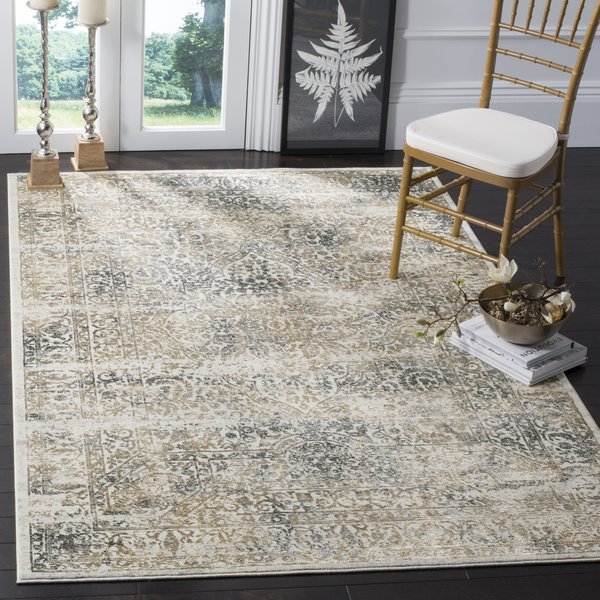 Silver, Anthracite (S) Vintage / Overdyed Area Rug