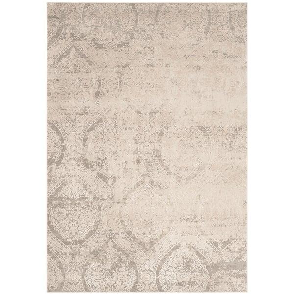 Grey, Beige (G) Vintage / Overdyed Area Rug