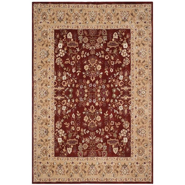 Rust, Green (B) Traditional / Oriental Area Rug