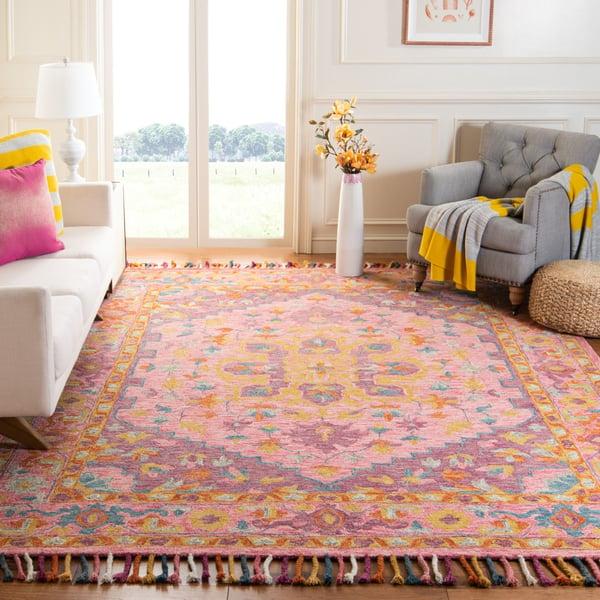 Pink, Violet Traditional / Oriental Area Rug