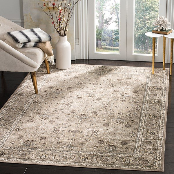 Silver (P) Traditional / Oriental Area Rug