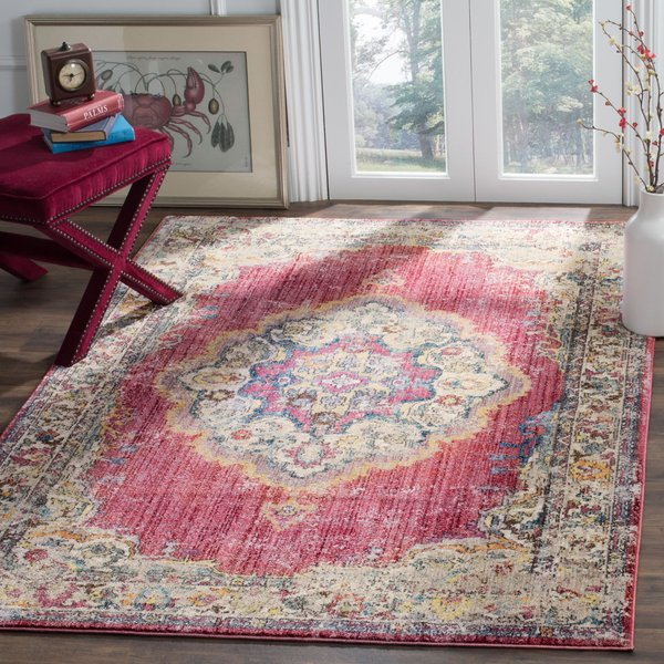 Rose, Light Grey (R) Vintage / Overdyed Area-Rugs