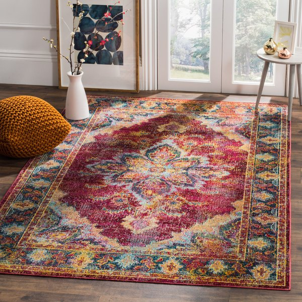 Ruby, Navy (R) Vintage / Overdyed Area Rug