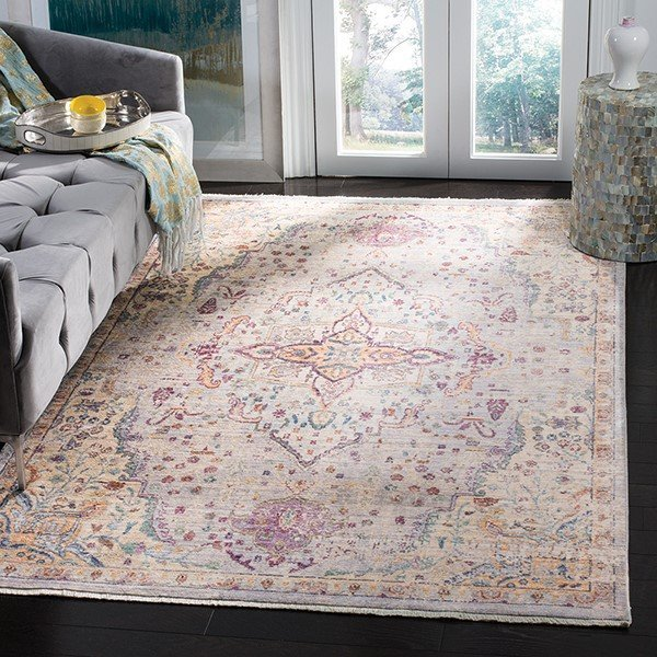 Lilac, Light Grey (G) Traditional / Oriental Area-Rugs
