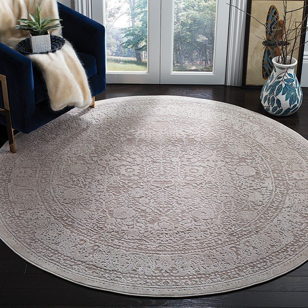 Beige, Cream (A) Traditional / Oriental Area Rug