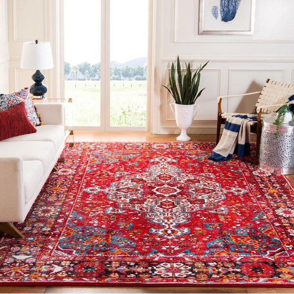 Red, White, Blue (A) Traditional / Oriental Area Rug