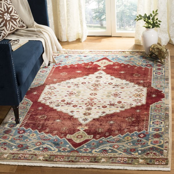 Ivory, Blue (B) Traditional / Oriental Area-Rugs