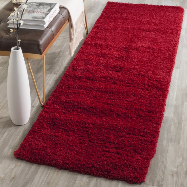 Red (H) Shag Area-Rugs