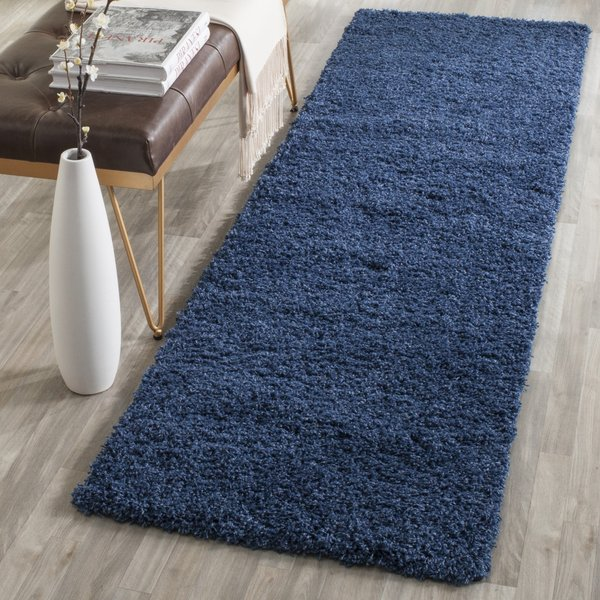 Blue (K) Shag Area Rug