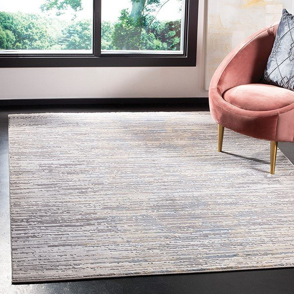 Grey, Gold (D) Abstract Area Rug