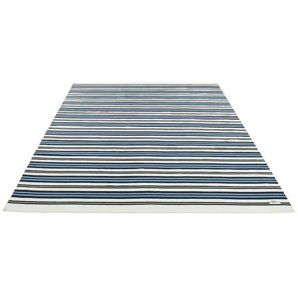 Blue, White Striped Area-Rugs