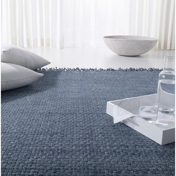 Blue, Denim Contemporary / Modern Area Rug