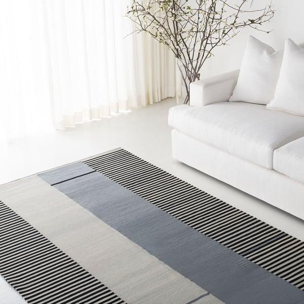 Slate, Black, Cream (C) Contemporary / Modern Area-Rugs