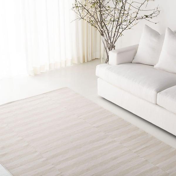 Light Brown, Beige (D) Contemporary / Modern Area-Rugs