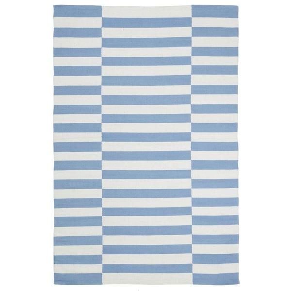 Light Blue, Ivory (B) Contemporary / Modern Area-Rugs