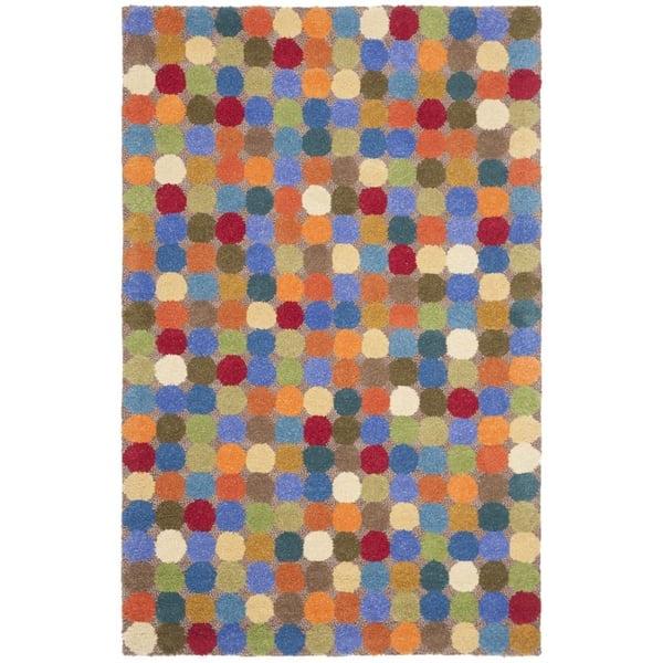 Yellow, Orange (A) Geometric Area-Rugs