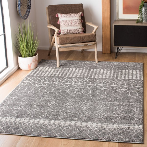 Grey, Ivory (F) Moroccan Area-Rugs