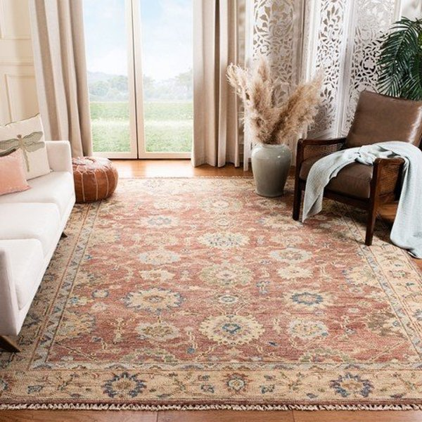 Red, Beige (B) Traditional / Oriental Area Rug
