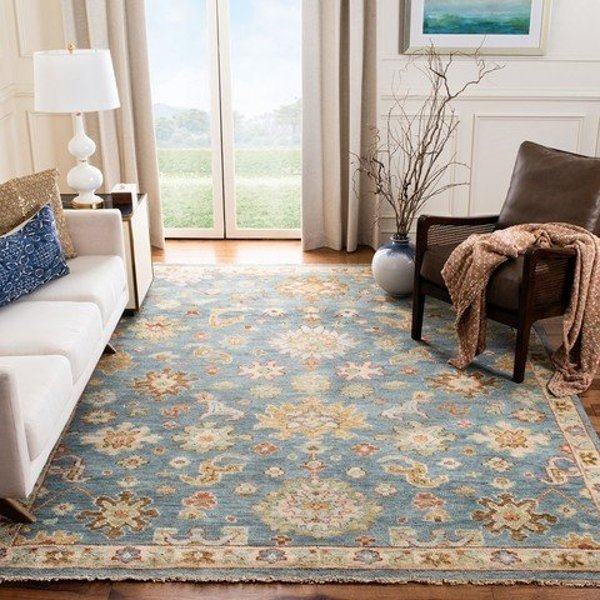 Blue (M) Traditional / Oriental Area Rug