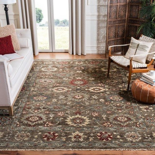 Brown, Taupe (T) Traditional / Oriental Area Rug