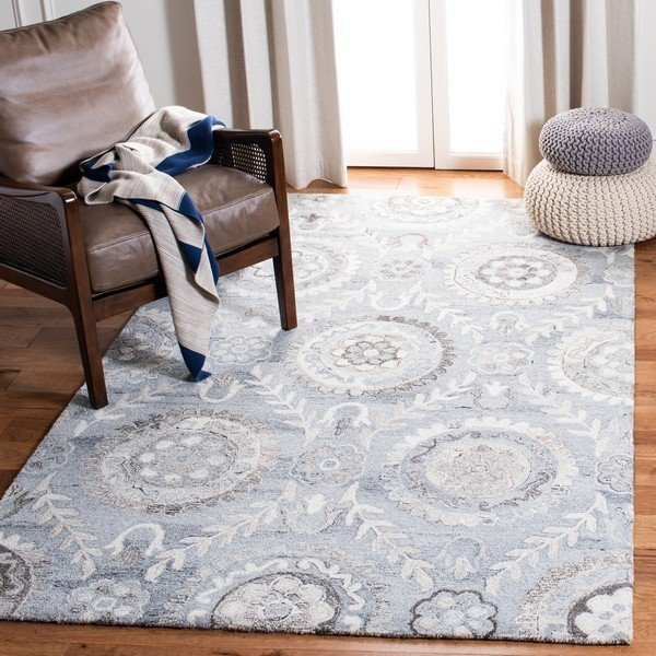 Grey (F) Traditional / Oriental Area-Rugs