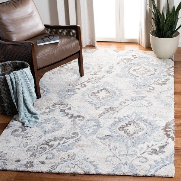 Ivory, Grey (A) Traditional / Oriental Area-Rugs