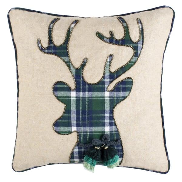 Beige, Green (PLS-7114A) Novelty / Seasonal Pillow