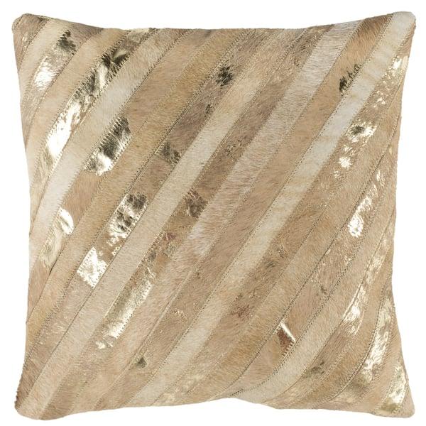 Beige, Gold (PLS-247) Animals / Animal Skins Pillow