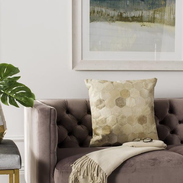 Beige (PLS-245) Contemporary / Modern pillow