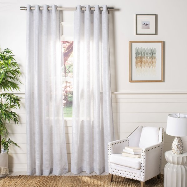 Light Grey, White (WDT-1017) Contemporary / Modern Curtains