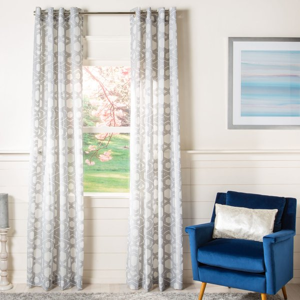 Grey (WDT-1031) Contemporary / Modern Curtains