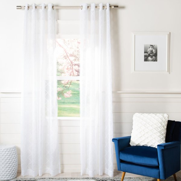 White (WDT-1047A) Solid Curtains