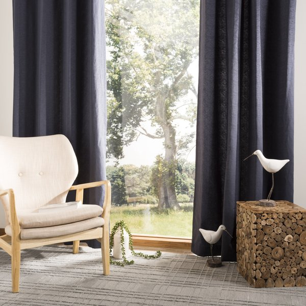 Navy (WDT-1000) Contemporary / Modern Curtains
