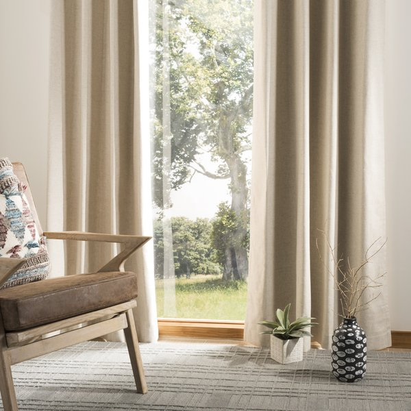 Beige (WDT-1011) Contemporary / Modern Curtains