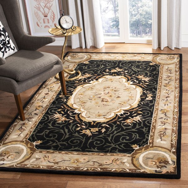 Black, Beige (B) Traditional / Oriental Area Rug