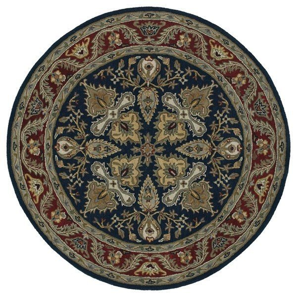 Navy, Burgundy, Brown (22) Traditional / Oriental Area Rug