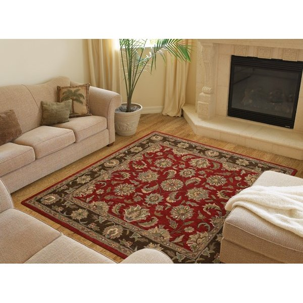 Salsa, Sage Green, Chocolate (57) Traditional / Oriental Area Rug