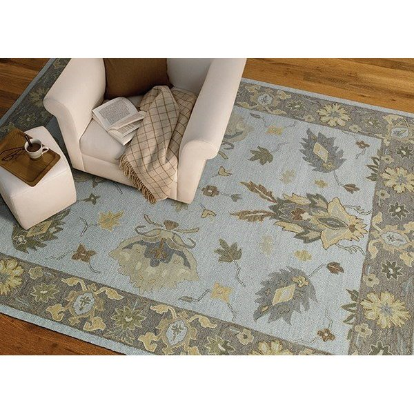 Silver, Soft Gold, Sage (77) Traditional / Oriental Area Rug