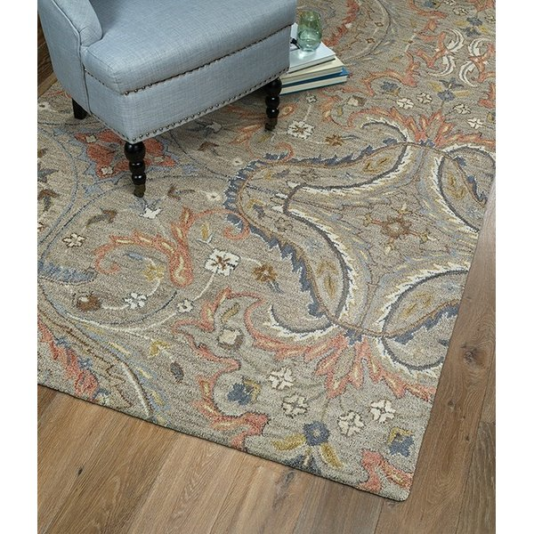 Taupe, Terracotta, Beige (27) Contemporary / Modern Area Rug