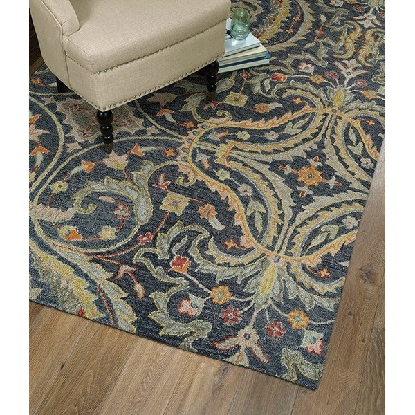 Pewter, Light Camel, Gold (73) Contemporary / Modern Area Rug