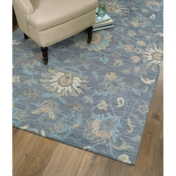 Graphite, Light Blue, Camel (68) Traditional / Oriental Area Rug