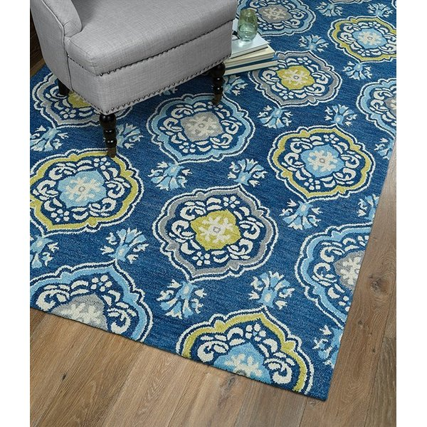 Blue, Wasabi Green, Beige (17) Contemporary / Modern Area Rug