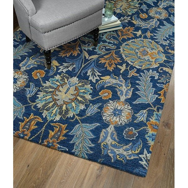 Blue, Denim Blue, Grey (17) Traditional / Oriental Area Rug