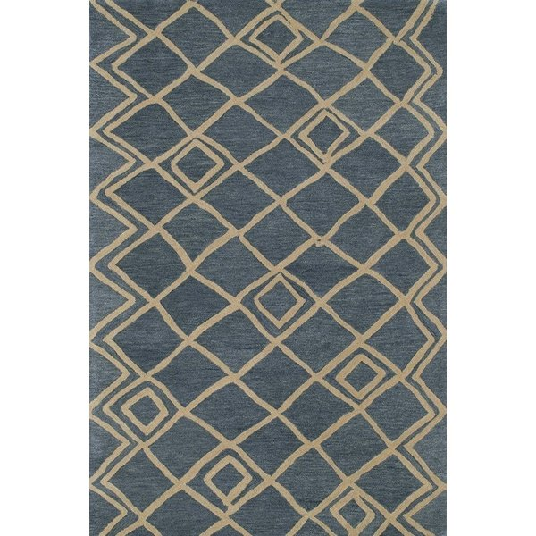 Blue, Ivory (17) Moroccan Area Rug