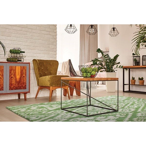 Green, Ivory (50) Traditional / Oriental Area Rug