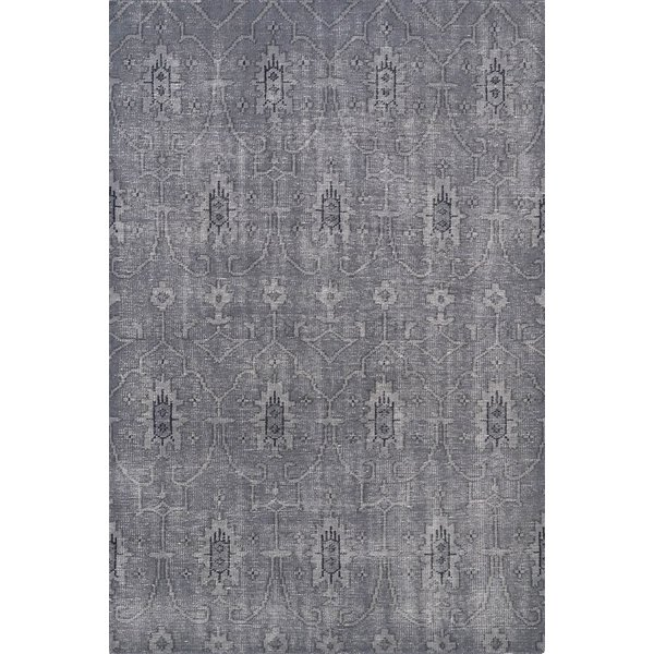 Grey, Charcoal, Steel (75) Moroccan Area Rug